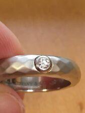Tiffany Elsa Peretti Platinum Diamond Ring Sz 4