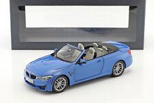 BMW M4 (F83) Convertible Baujahr 2015 blau 1:18 ParagonModels