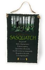 "Advice from a Sasquatch Inspirational 5.5""x8.5"" Wood Plaque Sign for Wall"