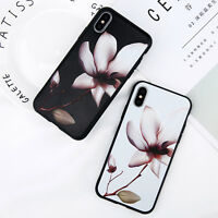 Shockproof Silicone Flower Phone Case Cover For iPhone XS Max XR 6S 7 8 5S Women