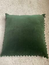 """$295! Nwt Ann Gish Olive Green 100% Velvet 18"""" x 18"""" Pillow - Holiday Christmas"""