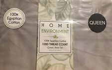 4 pc Home Environment 100% Egyptian Cotton 1000TC Grey QN MSRP $240