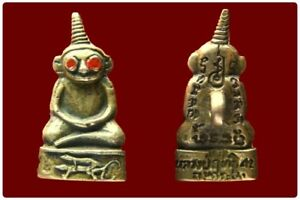 Phor Ngang Red Eye, LP Rit Thai Amulet Attract Love Charm Rare Old BE 2542