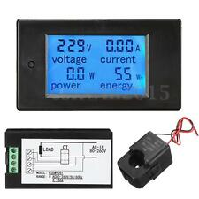AC80-260V 100A LCD Digital Amp Voltage Current Power Meter Ammeter Voltmeter +CT