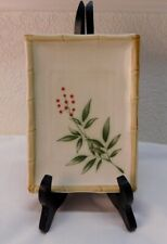 Antique Hand Painted Oblong Porcelain Japanese Serving Tray Tag: Made in Japan