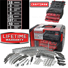 Craftsman 450 Piece Mechanics Tool Set With 3 Drawer Case Box Sae Metric 99040
