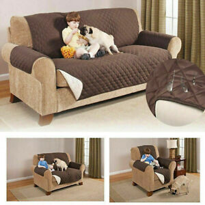 Quilted Reversible Waterproof Sofa Cover Chair Couch Slipcover Pet Dog Kids Mat
