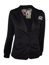billabong giacca donna stampata nero taglia s small 2 bottoni