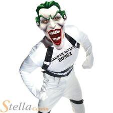 Mens Joker Straight Jacket Arkham Batman Halloween Fancy Dress Costume + Mask