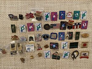 Lot 58 Vintage Olympic Pins Pin 3M Betty Crocker Kelloggs Minute Maid 90's 00's