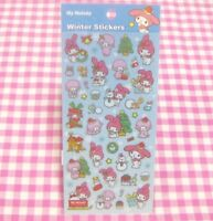 KAMIO JAPAN  Sanrio My Melody Piano Winter Christmas Snowman Sticker Sheet  2014