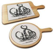 Vintage Kraken Illustration Novelty Gift Cheese Board Food Platter