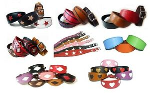 RANDOM Leather Whippet Collar Padded Suede Lined Greyhound Collars Dog Collars