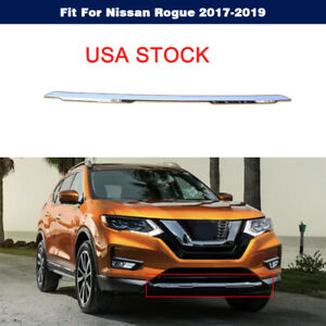 Chrome Front Bumper Lower Grille Molding 62072-6FL0A For Nissan Rogue 2017-2019