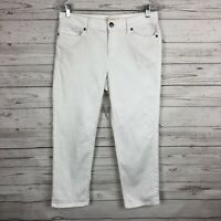J Jill Womens Authentic Fit Cropped Jeans Size 4 White Capri