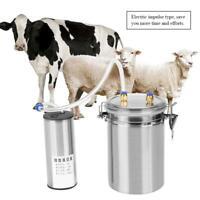 Portatile Elettrico Impulsi Mungitrice 2L Mungitura In Inox Set Per Capre Mucche