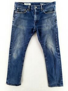 Gap 34x30 (Actual 34x28) Slim Fit Blue Jeans Stretch Denim Faded