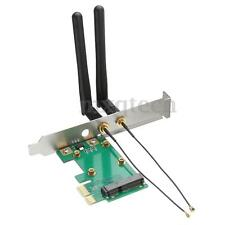 300Mbps PCI-E Wireless Wlan Network WiFi Card to PCI-E x1 adapter W/ 2 Antennas