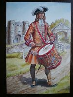 POSTCARD DRUMMER THE EARL OF DONEGALL'S REGIMENT OF FOOT OR BELFAST REGT 1702