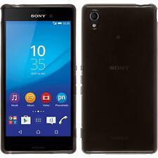 Coque en Silicone Sony Xperia M4 Aqua - transparent noir + films de protection