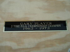 "Gary Player 2X Pga Championship Nameplate For Your Signed Golf Flag 1.25"" X 6"""
