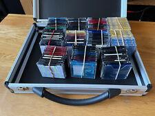 Good quality DJ churchill aluminium flight case with 110 minidiscs