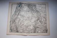 Carte de 1879, atlas Stieler,Gotha J. Perthes  Nord America Oregon etc N°81
