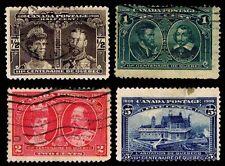 1908 CANADA #96-99 QUEBEC TERCENTENARY - USED - FINE+ - CV$33.25 (ESP#2289)
