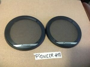 """NEW 1 PAIR OF PIONEER 6 1/2"""" SPEAKERS GRILLS COVERS ONLY, FOR TS-G1610F - 1620F"""