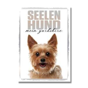 Yorkshire Terrier Seelenhund Dog Schild Spruch Türschild Hundeschild Warnschild