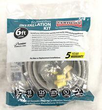 Certified Appliance Accessories Dishwasher Installation Kit Dwkit1 New 6 Ft