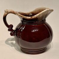 """Vintage McCoy Pottery USA Pitcher, Brown Drip Glaze, Pottery Ceramic, 5"""", #7528"""