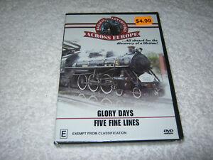 Railway Adventures Across Europe - Glory Days + Five Fine Lines - NEW DVD - R4