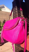 NEW MICHAEL Kors MD Bowling Bedford Tassel Brooke leather Shoulder bag satchel
