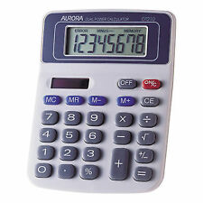 Aurora DT210 Desktop Calculator Solar Powered