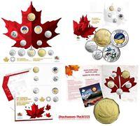 "2 x 5-Packs in Original RCM Envelope 2015 Canada /""FLAG/"" 5 colored /& 5 plain"