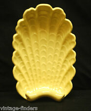 Old Vintage Art Pottery by Abingdon USA Scalloped Shell Serving Dish Centerpiece