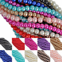 Wholesale Glass Pearl Spacer Loose Beads Jewelry Findings For Bracelet Necklace