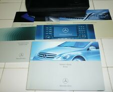 2007 MERCEDES R350 r500 Owners Manual SET 07 R 350 R63 + NAVIGATION GUIDE +case