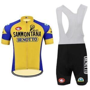 Retro 1982 Sammontana Benotto Cycling Jerseys and Bib Short Cycling Kit