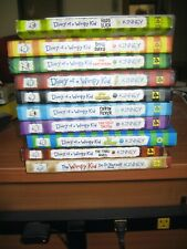 lot: 10 DIARY OF A WIMPY KID (Jeff Kinney) books (8 hardcover, 2 softcover)