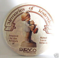 ENESCO Pin Back Button Memories of Yesterday Mabel Lucie Attwell Ltd 1990