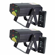 American DJ Micro Star Green and Red Laser Effect with Wireless Remote (2 Pack)