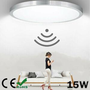 LED Deckenlampe mit Bewegungsmelder Sensor LED 15W Deckenleuchte Flurlampe Lampe