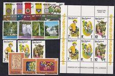Nuova Zelanda New Zealand 1976 Annata completa 21 valori + 1 Bf  MNH