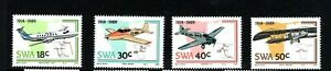 1989 South West Africa (SWA now Namibia) 75th Anniv of Aviation set of 4 UM