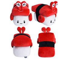 """CHOBA DOLL CRAB SUSHI 6"""" inch/ 15 cm Cute Doll Toy Cushion  Japanese Food"""