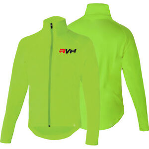 Cycling Jacket Highly Visible HI VIZ Windproof Showerproof Breathable Walking
