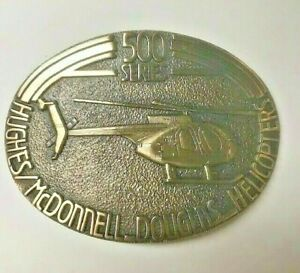Unique Handcrafted 500 Series Hughes/McDonnel Douglas  Helicopter Belt Buckle