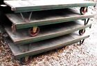 ANTIQUE FACTORY RAILROAD INDUSTRIAL CART made by FAIRBANKS CAST IRON & WOOD DECK